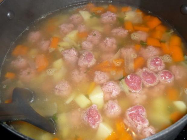 Gemüsesuppe mit Mettklößchen - Rezept - Bild Nr. 2