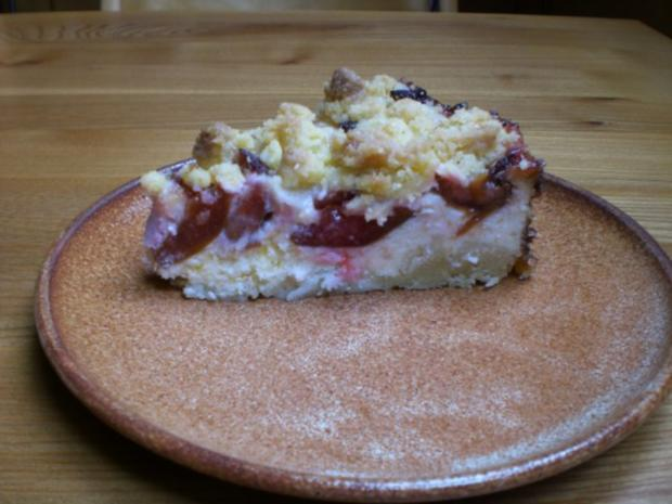 Pflaumen-Käse-Streusel-Kuchen - Rezept - Bild Nr. 2