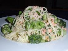 Broccoli-Räucherlachs-Pasta - Rezept