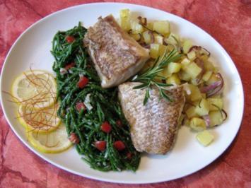 Rezept: Red Snapper an Meerealgensalat mit Rosmarinkartoffeln...
