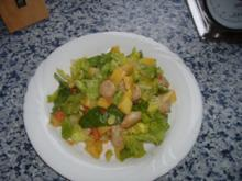 Bratwurst - Kartoffel - Romanasalat - Rezept