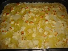 Kartoffelauflauf mit Hackfleisch und Fetakäse - Rezept