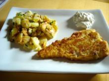 Gebackener Kabeljau mit Petersilien-Bratkartoffeln - Rezept