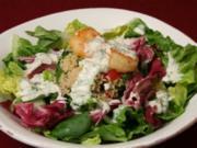 Tabouleh auf Feldsalat mit Koriander-Dressing - Rezept