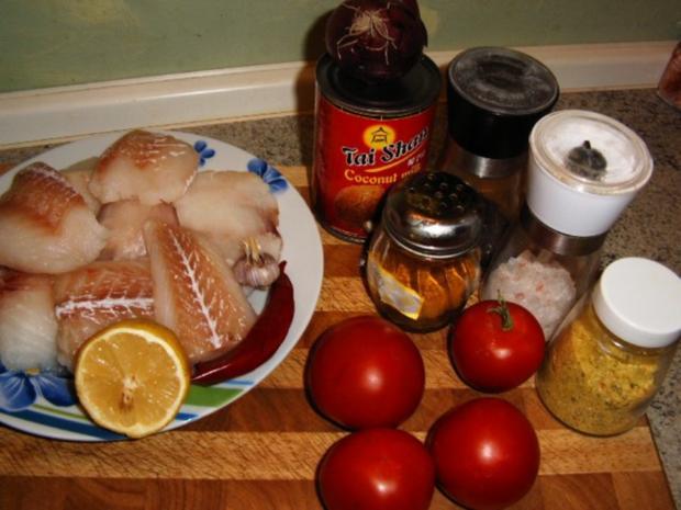 Kabeljau mit Kokos-Currysoße - Rezept - Bild Nr. 2