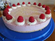 Frischkäse-Himbeer-Torte - Rezept