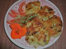 Kartoffelrösti mit Käse und Porree - Rezept