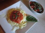 Spaghetti mit Tomaten Wodka Sauce - Rezept