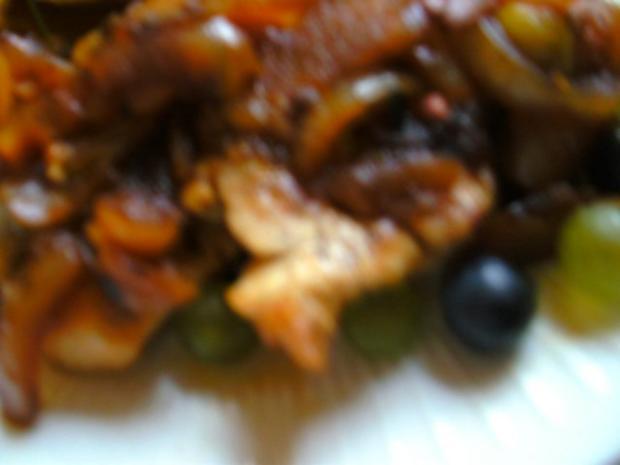 Zwiebel Weintrauben-Soße mit Hähnchenbrust - Rezept - Bild Nr. 3