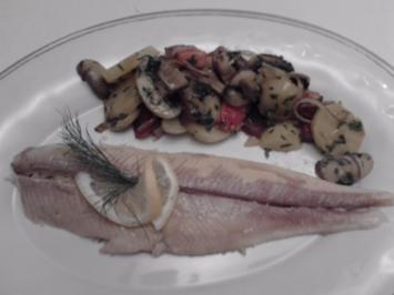 Bachsaibling in der Salzkruste mit  lauwarmen Kartoffelsalat - Rezept