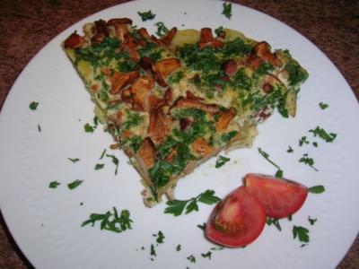 Pfifferling-Bauern-Omelett, das etwas andere Omelett  (meine schnelle Feierabendküche) - Rezept
