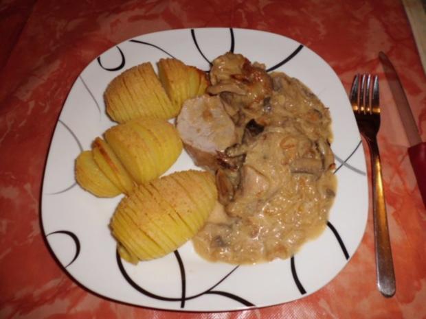Filet in Zwiebelrahmsoße - Rezept
