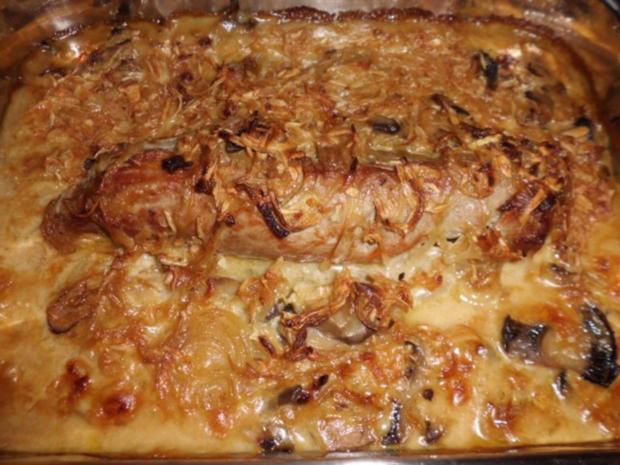 Filet in Zwiebelrahmsoße - Rezept - Bild Nr. 6