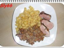 Fleischgerichte:Schweinefilet sanft Gegart mit Pfifferlingsoße - Rezept