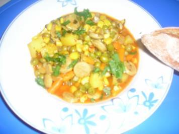 Bratwurst-Gemüse-Kartoffel Eintopf - Rezept