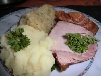 Sauerkraut mit Kassler und Speck - Rezept