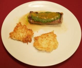 Lammlachse mit Kartoffel-Parmesan-Küchle (Martin Armknecht) - Rezept