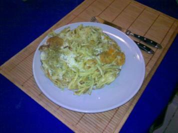Nudeln: Bratspätzle mit Käse und Ei - Rezept