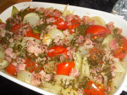 Fenchel-Tomate aus dem Ofen - Rezept