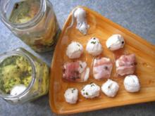 Eingelegte Schafkäsekugeln - Rezept
