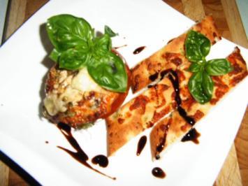 überbackene Blauschimmelkäse-Tomaten - Rezept