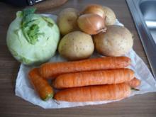 Auflauf : Kartoffel - Kohlrabi - Möhren - Gratin - Rezept