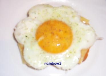 Zwischensnack: Blumiges Käse-Ei-Toast - Rezept