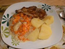 Kohlrabi-Möhren-Gemüse an Kammscheiben - Rezept