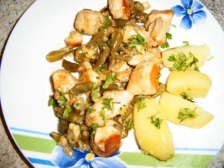 Bohnen-Hähnchen-Pfanne - Rezept