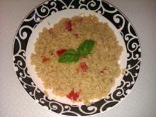 Pestoreis mit Tomate - Rezept