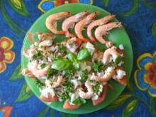 Tomaten mit Thunfisch und crevetten - Rezept