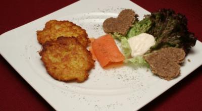 Rheinländische Kartoffelrösti mit Meerrettich und Lachs - Rezept