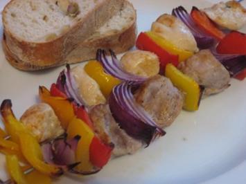 Fleischspieße aus dem Backofen - Rezept