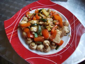 Puten-Gemüse-Pfanne - Rezept
