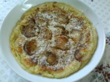 Weinbergpfirsich-Zimt Pfannkuchen - Rezept