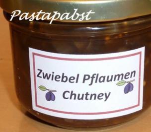 Zwiebel-Pflaumen-Chutney - Rezept