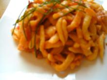 Käse-Spätzle mit Bums - Rezept
