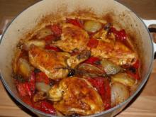 Maishähnchenkeulen  (Gambe polli di mais alla napoletana) - Rezept