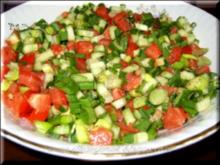 Tomatensalat - Domates salatasi - Rezept