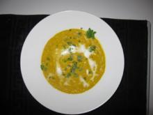 Möhren-Kokos-Suppe mit Reis - Rezept