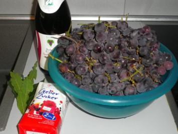 Rotwein - Trauben - Gelee - Rezept