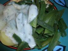 Junge Prunkbohnen zu heller Soße - Rezept