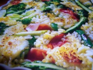 Gemüse-Reis-Auflauf - Rezept