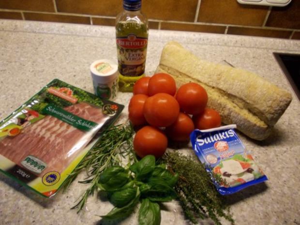 Brotauflauf mit Tomaten und Schafskäse - Rezept - Bild Nr. 2