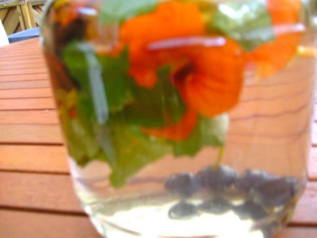 Blütenessig aus Kapuzinerkresse - Rezept