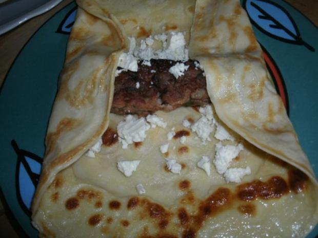 Gefüllte Pfannkuchen mit Käsesoße- gratiniert - Rezept - Bild Nr. 6
