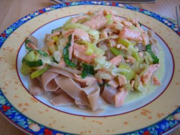 Lachssauce mit Nudeln - Rezept