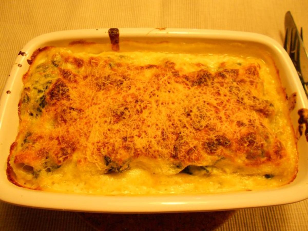 lasagne con salmone e spinaci lasagne mit lachs und spinat rezept. Black Bedroom Furniture Sets. Home Design Ideas