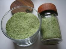 Kräutersalz Kapuzinerkresse - Rezept