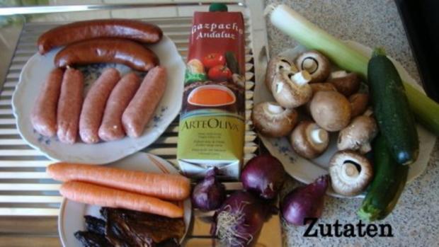 Wurstgulasch in Tomatensoße - Rezept